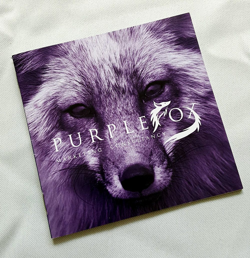 Purple Fox Marketing booklet - front