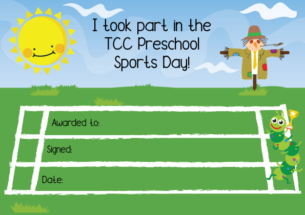 TCC sports day certificate