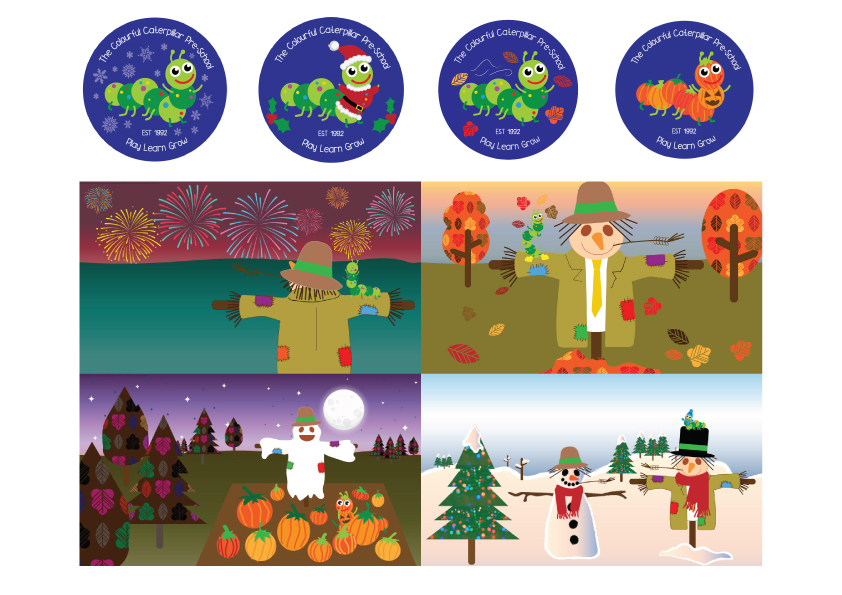 Seasonal Facebook logos and banners